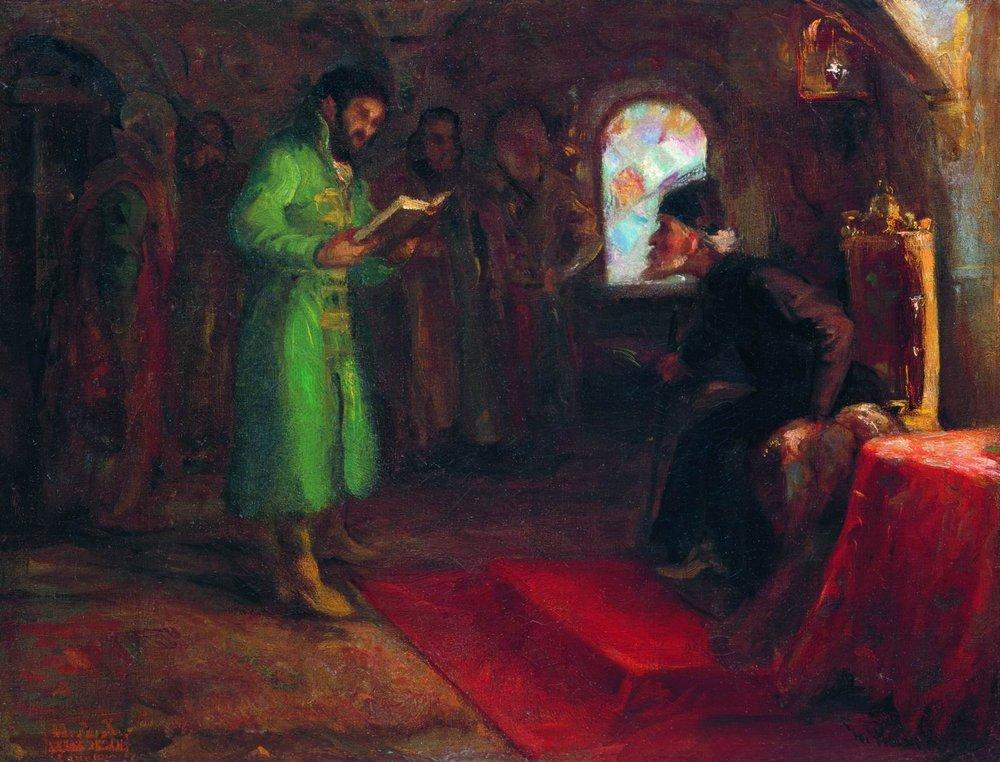 Boris Godunov with Ivan the Terrible, 1890