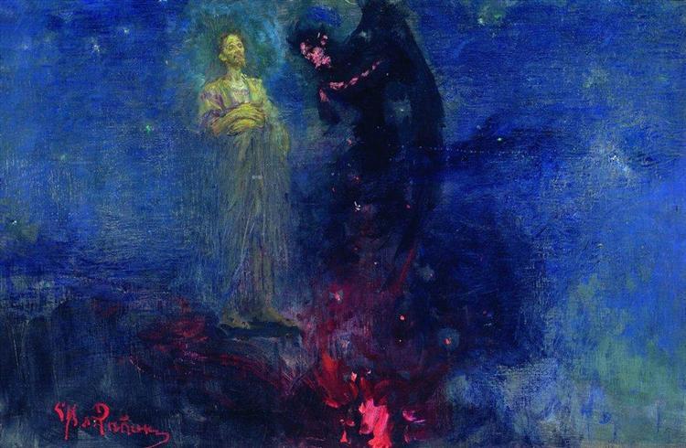 Get away from me, Satan - Ilya Repin