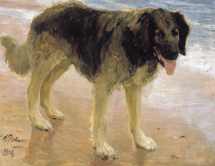 Man's best friend, 1908 - Ilya Repin