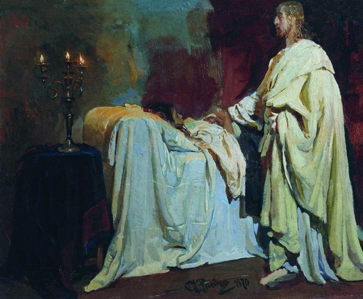 Raising of Jairus Daughter, 1870 - Ilya Repin