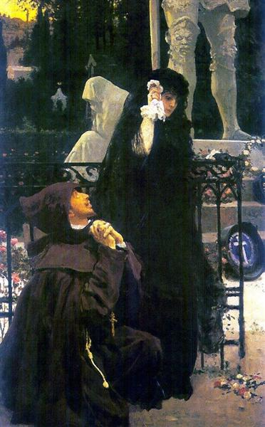 Stone Guest, Don Juan and Donna Anna, 1885 - Ilya Repin