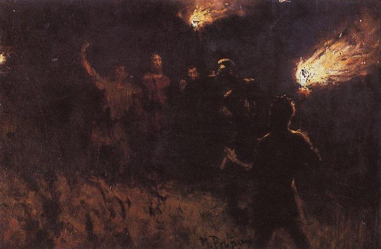 Taking Christ into custody, 1886 - Ilya Repin