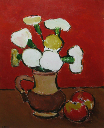 White Flowers and Apples - Ion Pacea