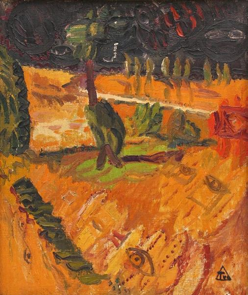 Landscape with Tree - Ion Tuculescu