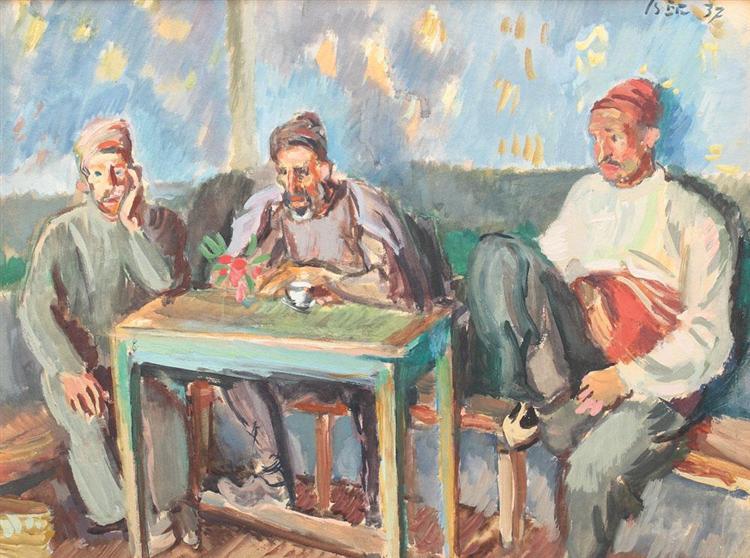 Behind the Scenes, 1932 - Iosif Iser - WikiArt.org