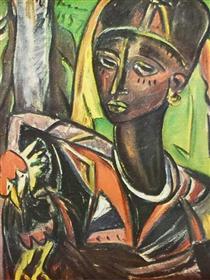Zanzibar Woman with Chicken - Irma Stern