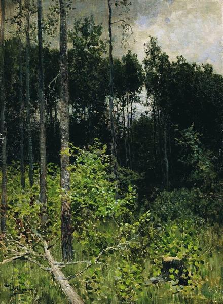 Aspen spinny. A gray day., 1884 - Isaak Iljitsch Lewitan