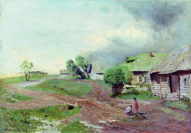 Before the thunderstorm, 1879 - Ісак Левітан