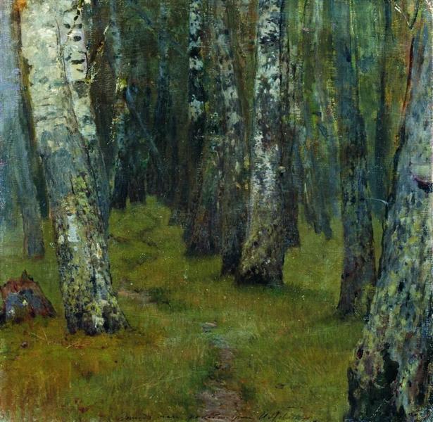 Birches. Forest edge., c.1885 - Isaac Levitan