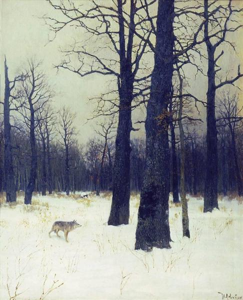 In the forest at winter, 1885 - Isaac Levitan