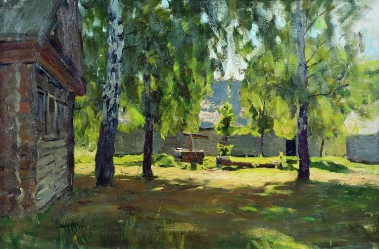 Sunny Day. Near the isba., 1899 - Isaac Levitan