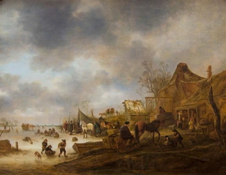Winter Landscape, 1645 - Isaac van Ostade