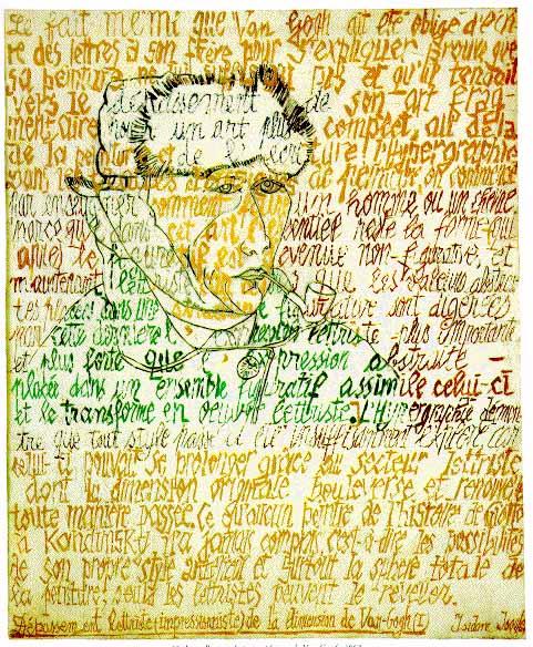 Portrait Hypographique de Van Gogh, 1962 - Isidore Isou