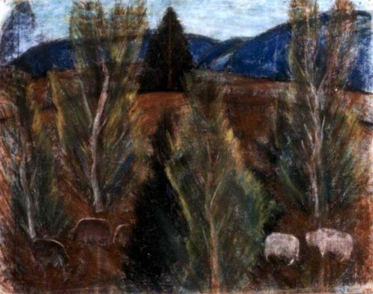 Bakony-Landscape, 1928 - Istvan Nagy