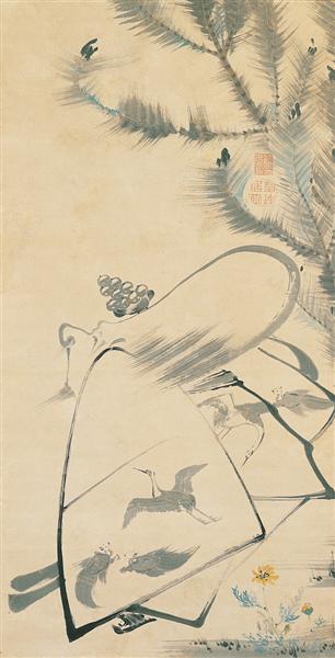 Fukurojin (Fukurokuju), the God of Longevity and Wisdom, 1790 - Ito Jakuchu