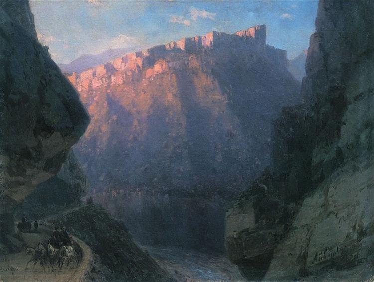 Darial Gorge, 1868 - Ivan Aivazovsky