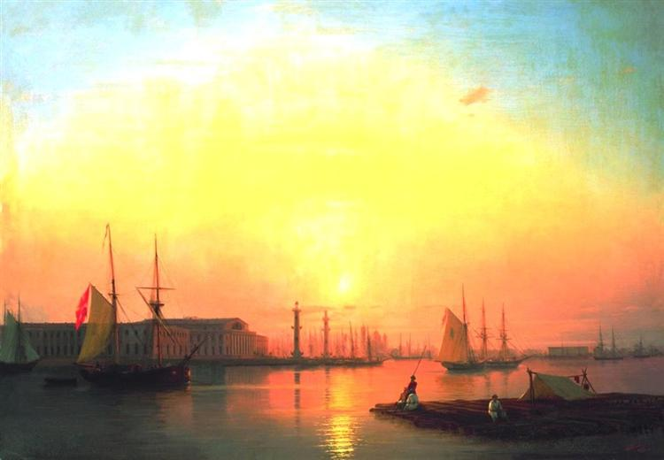 Exchange of Peterburg, 1847 - Ivan Aïvazovski