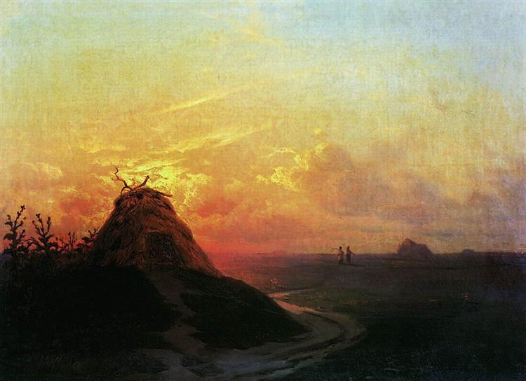 Field. Sunset, 1861 - Ivan Aivazovsky