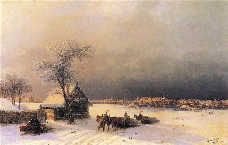 Moscow in Winter from the Sparrow Hills, 1872 - Ivan Aivazovsky