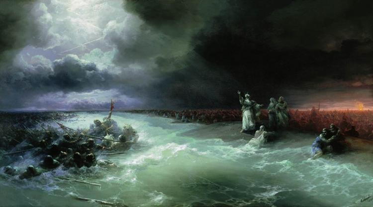 Passage of the Jews through the Red Sea, 1891 - Ivan Aivazovsky