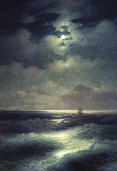 Sea view by Moonlight, 1878 - Iván Aivazovski