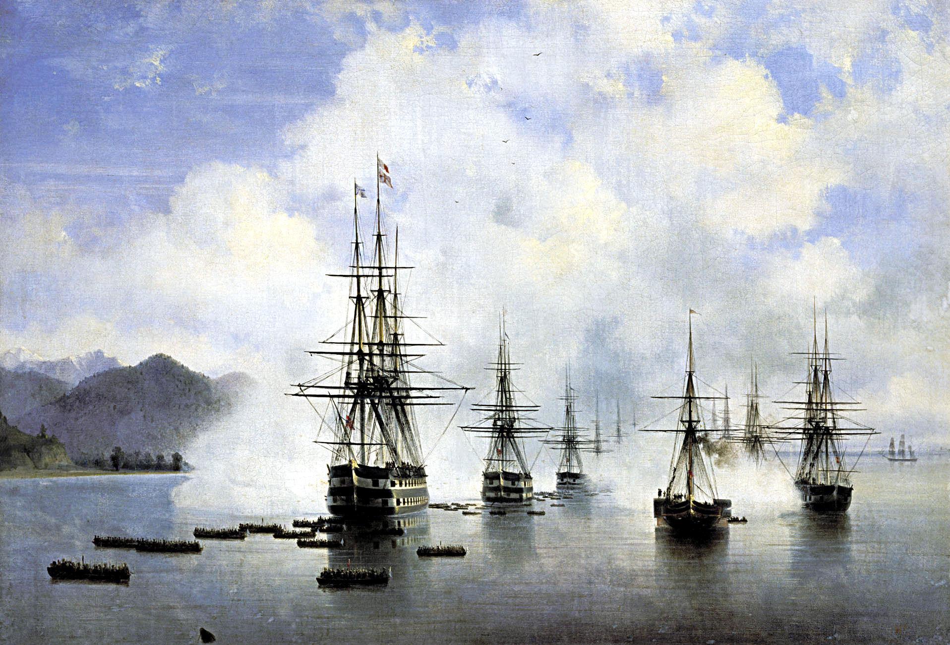 The Landing at Subashi, 1839