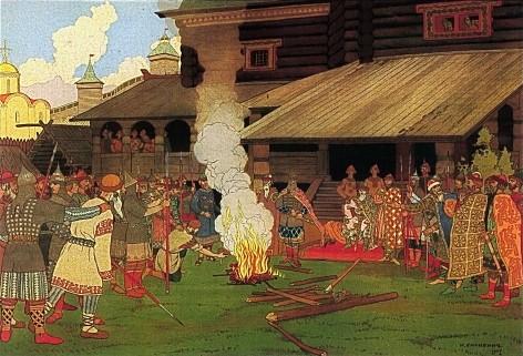 Administering Justice in Kievan Rus, 1907 - Ivan Bilibin
