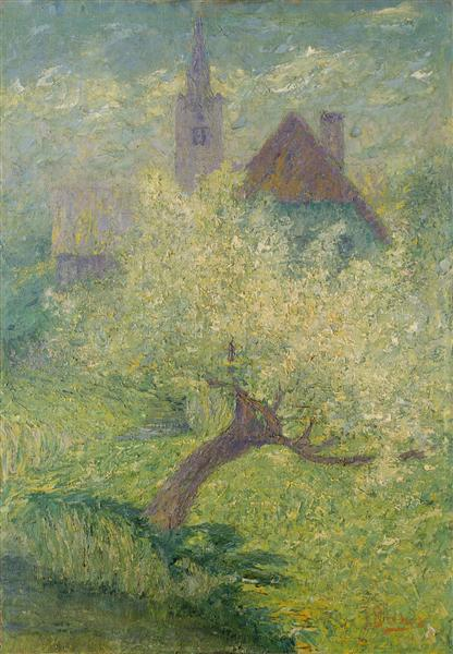 Flowering apple tree, 1907 - Ivan Grohar