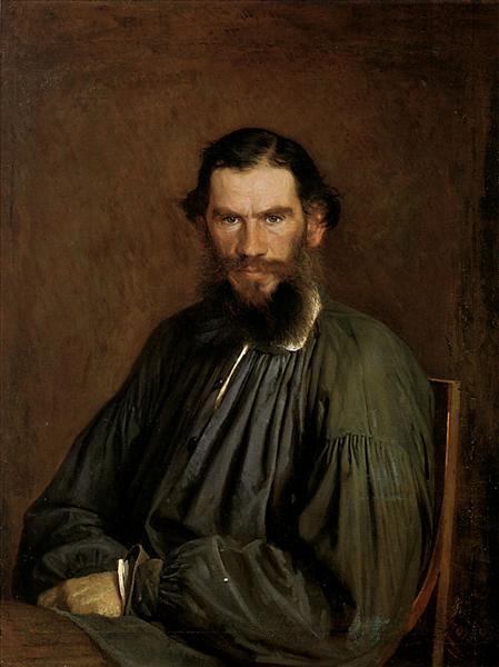 Portrait of Leo Tolstoy, 1873 - Ivan Kramskoy