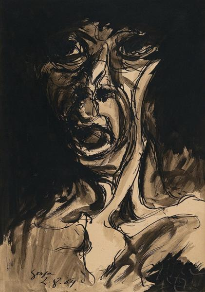 Figura (Fase Negra), 1954 - Ivan Serpa