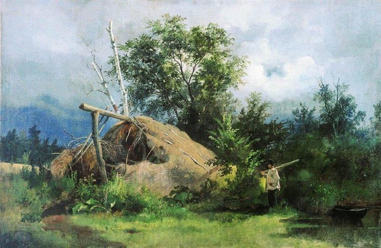 Hovel, 1861 - Ivan Shishkin