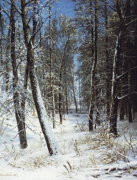 Winter in a forest (Rime), 1877 - Ivan Shishkin