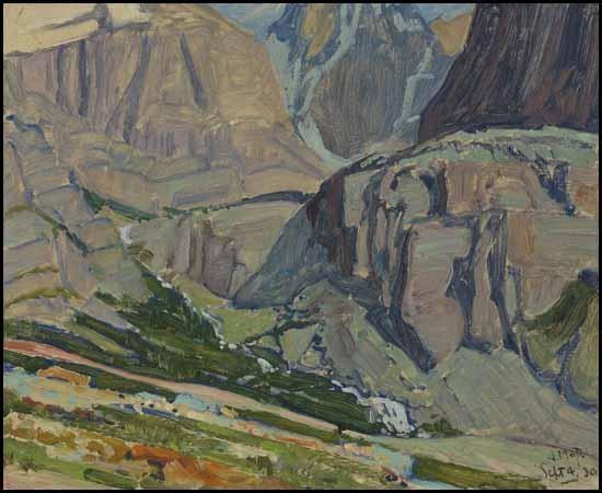 Valley and Stream, Oesa Trail, Lake O'Hara, 1930 - J. E. H. MacDonald