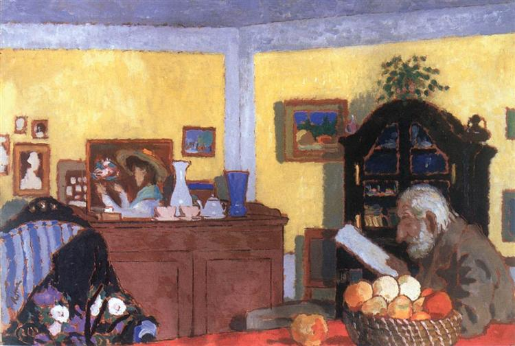 Uncle Piacsek in front of the Black Sideboard, 1906 - Jozsef Rippl-Ronai