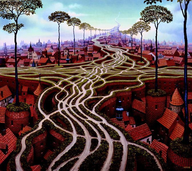 Erosion, 2000 - Jacek Yerka