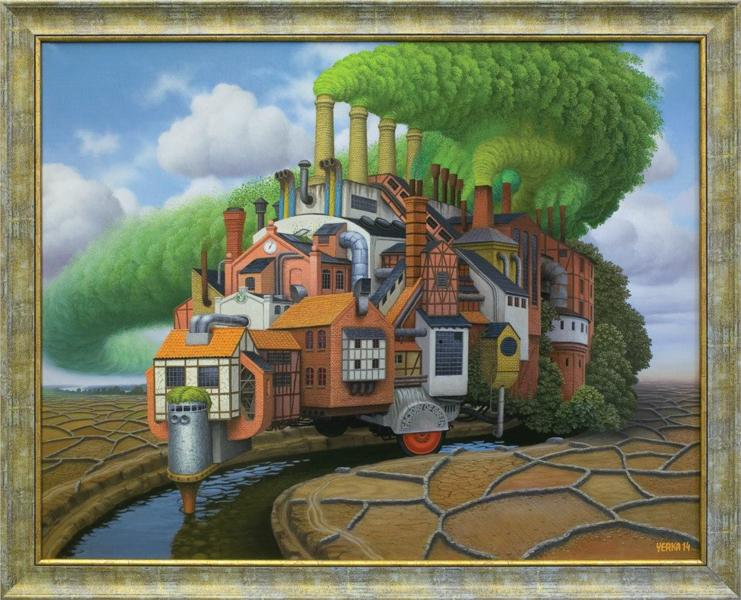 Factory of green, 2014 - Jacek Yerka