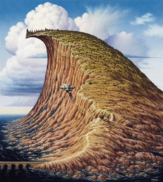 Tsunami, 1998 - Jacek Yerka