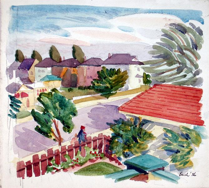 Back Garden at 43 Chudleigh, 1936 - Jack Bush