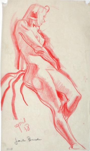 Life Drawing – Woman, 1938 - Jack Bush