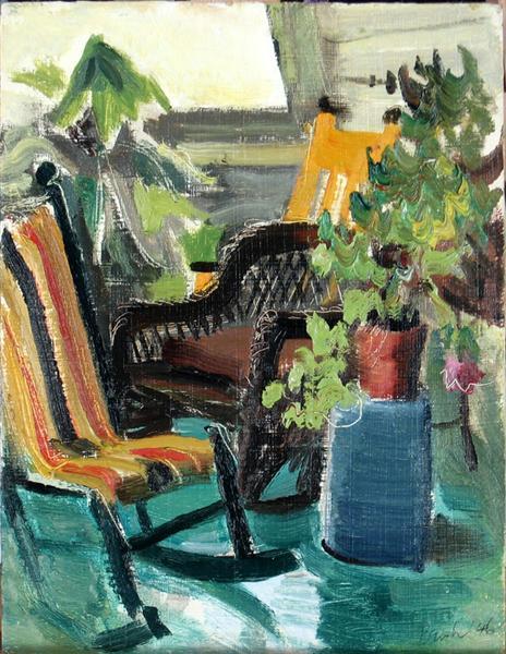 On the Verandah, Belfountain, 1946 - Jack Bush
