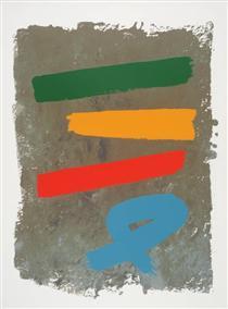 Three and Blue Loop - Jack Bush