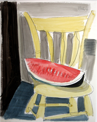 Watermelon on Chair, 1952 - Jack Bush