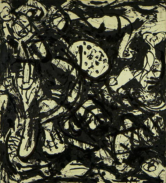 Black & White (Number 20), 1951 - 杰克逊·波洛克