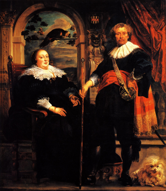 Govaert van Surpele and his wife, 1639 - Jacob Jordaens ...