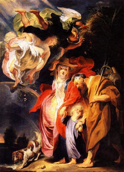 The Return from Egypt of the Holy Family - Jacob Jordaens