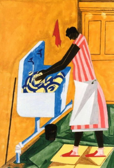 Home Chores, 1945 - Jacob Lawrence
