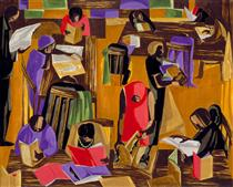 The Library - Jacob Lawrence