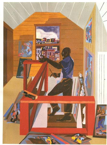 The Studio, 1977 - Jacob Lawrence