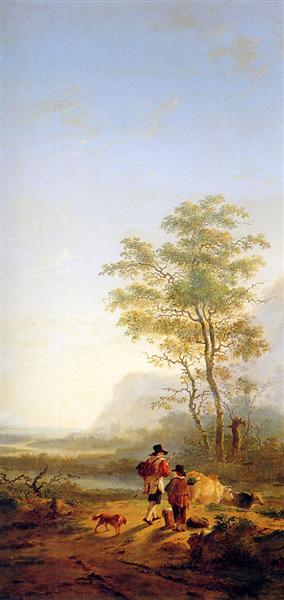 Italian landscape - Jacob van Strij