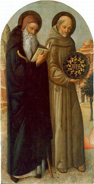 Saint Anthony Abbot and Saint Bernardino da Siena, 1455 - 1460 - Jacopo Bellini